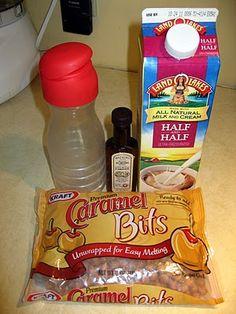 Homemade Caramel Creamer