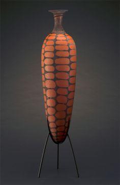 William Morris - 'MAZORCA URN', blown glass; steel stand 2013