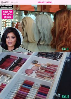 Holy makeup heaven! Kylie Jenner shared an inside look at the makeup room in her house, and it's basically better than Sephora. Watch the reality star give a tour of her beauty room.