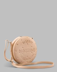 05c2a83ee2aa Digestive Biscuit Cream Leather Cross Body Bag