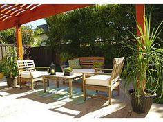 """Our brand includes attention to detail, including staging for outdoor areas to highlight that space. Back patio """"after"""" staging - what a difference! www.homescapes-sd.com"""
