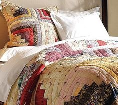 Museum Craft Collection - Gee's Bend Log Cabin Quilt - Traditional - Quilts - Pottery Barn