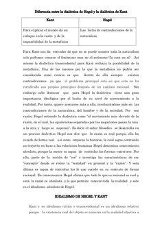 Diferencia entre la dialéctica de Hegel y la dialéctica de Kant Kant  Hegel  Para explicar el mundo da un  Las lucha de co...
