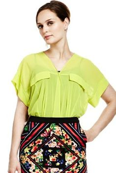 Love this blouse, shapre and colour! Limited Collection V-Neck Draped Blouse