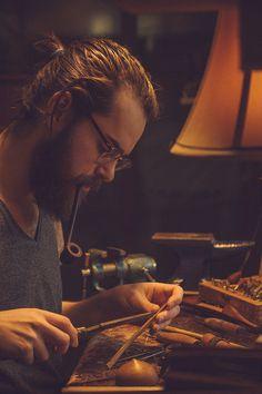 Beards. Men. Craftsman. Pipe.