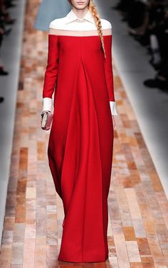 Gown With Inverted Pleat Front by Valentino for Preorder on Moda Operandi