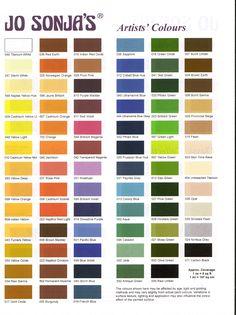 Jo Sonja color Chart