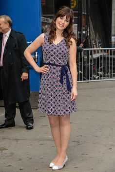 Zooey Deschanel in To Tommy, From Zooey outside Good Morning America.