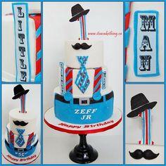 """Little Man"" Themed 1st Birthday Cake"