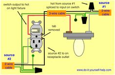 gfci receptacle and switch same box how to in 2019 Telephone Wiring Schematic wiring diagram, split combo device