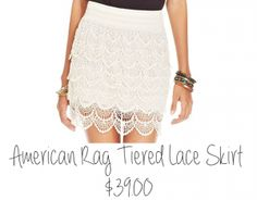 Is it wrong to add to your wardrobe during Spring Cleaning? If introducing this new American Rag Tiered Lace Skirt to my closet is wrong, I don't want to be right! Plus, the 15% off coupon available at my personal Fluent promoter website should help make your decision to shop at Macy's an easy one! Visit http://www.macyscampustour.com/byu-bret to download the Macy's app and get your coupon now.  #sponsored #macyscampus #BYU #springfashion #springcleaning