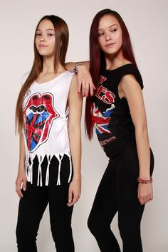 Rolling Stones Tshirt Refashioned Rock Tee with FREE Shipping using promo code FREESHIP