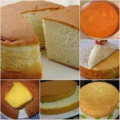 .IngredientesMassa4 unidade(s) de gema de ovo4 unidade(s) de clara de ovo em neve2 xícara(s) (chá) de farinha de trigo1 1/2 xícara(s) (chá) de açúcar1