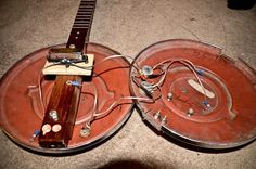Hubcap guitar build