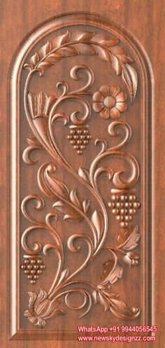Wonderful Wood Carving Designs In Doors Photos - - Wonderful W. Single Door Design, Wooden Front Door Design, Double Door Design, Wooden Front Doors, The Doors, Wood Doors, Wood Design, Main Door Design Photos, Door Design Images