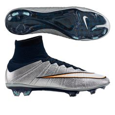 ca2469f63 Nike Mercurial SuperFly IV CR7 FG Soccer Cleats (Metallic Silver White Hyper  Turquoise