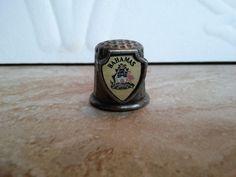 Souvenir Collectable  Thimble Bahamas EUC