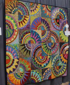 Sue Garman Great Paper Piece Art Quilt. Love the colors.