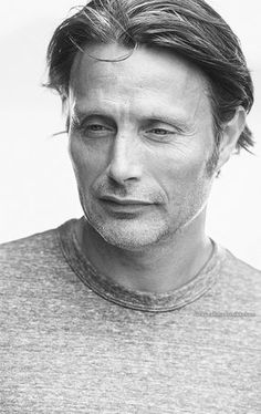 Mikkelsen's face is like a 5-star menu. Charming brow ridge, succulent lip shape, a decadent stare, an extravagant nose, rich cheek bones and aged to perfection.