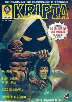 Revista Kripta #16 - RGE (1976) - Quadrinhos de terror, suspense, ficção e sobrenatural