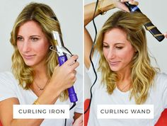 The Real Difference Between a Curling Wand and a Curling Iron: The following post was originally featured on Advice From a 20 Something and written by Amanda Holstein, who is part of POPSUGAR Select Beauty.