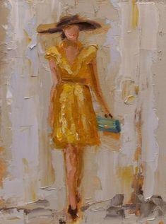 fashion lady yellow dress - Fashion Ladies by Kathryn Trotter  <3 <3