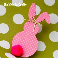 Paper Bunny but use paper flower for tail!