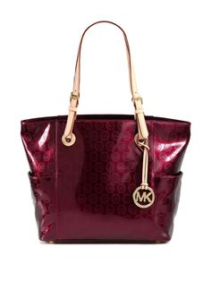 MICHAEL Michael Kors Red Signature Patent Leather Tote We checked over 474 online retailers and this item is sold out  Last seen for $198 at Saks OFF 5th   IT'S MY FAVORITE COLOR!