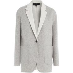 Rag & Bone Reversible Wool Blazer ($470) ❤ liked on Polyvore featuring outerwear, jackets, blazers, grey, gray jacket, grey jacket, slim fit wool blazer, grey wool jacket and gray wool blazer