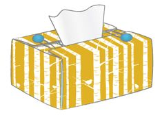 Great tutorial on how to make a Tissue Box cover + how to make a lampshade and more.