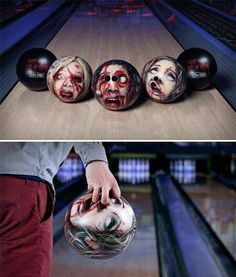 Custom Zombie Bowling Balls, cool!