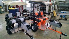 custom Golf Cart trailer for Yamaha EZ-GO club car pull behind Tag-a-long  #TagALong