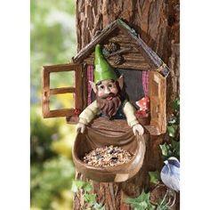 Window Gnome Tree Mount Birdfeeder