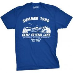 <p>What's better than working or staying at Camp Crystal Lake? Probably a lot of things, if you're intent on living past the age of 30. These super soft cotton shirts come in a wide range of sizes, and can fit both men and women comfortably. How, you may ask? Because we offer both adult women's slim and adult men's! Pretty cool, wouldn't you agree?</p>
