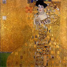 클림트, [아델레 블로흐-바우어 I], 1907년, 캔버스에 유채와 금, 138x138cm, 오스트리아 갤러리, 빈