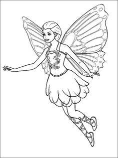 Pictures Flying Fairy Coloring Pages