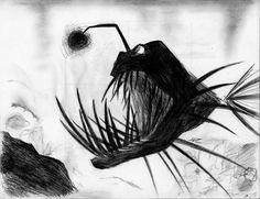 angler fish drawing | Angler Fish by KitsuneRibbons
