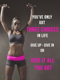 You've only got three choices in life give up - give in or give it all you got. Now STOP CRYING and Stop SAYING I CANT, BS !!! No SUCH WORD I CANT !!!