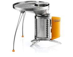 The BioLite Portable Grill provides a safe, seamless, and fun way to cook your favorite foods on the wood-burning BioLite CampStove. The unique design allows you to keep sizzling while your fire keeps burning, all without the need for charcoal or propane.