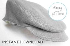Boys Cap Newsboy Hat  INSTANT DOWNLOAD by petitboo on Etsy, $6.00