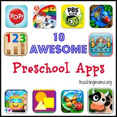 10 Awesome Preschool Apps from [teaching mama] Pinned by SOS Inc. Resources @SOS Inc. Resources.