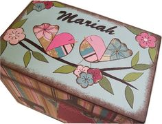 Recipe Box Made To Order Decoupaged For 4x6 Cards Large Handcrafted By Gifts And…