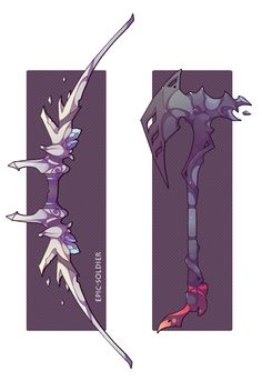 her axe but the red is switched with purple, obtained with dark magic