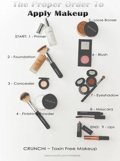 is a helpful guide to the proper order of putting on your make up. And, if Here is a helpful guide to the proper order of putting on your make up.Here is a helpful guide to the proper order of putting on your make up. Diy Beauty Makeup, Makeup 101, Makeup Guide, Free Makeup, Beauty Hacks, Steps Of Makeup, Makeup Tools, Makeup List, Kids Makeup