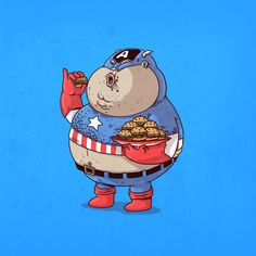 overweight Captain America By Alex Solis