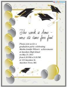 Graduation Party Invitation Templates Free Printable Computer - Free graduation flyer template