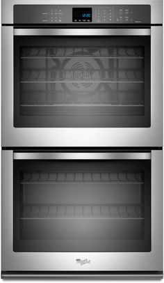 Whirlpool WOD93EC0AS 30 Inch Double Electric Wall Oven with 5.0 cu. ft. per Oven, True Convection Cooking, Self-Cleaning, SteamClean Option and Hidden Bake Element: Stainless Steel