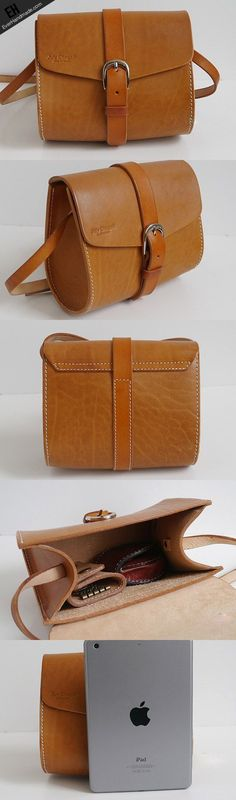 ba281fe99e Handmade vintage cute rustic leather crossbody Shoulder Bag for girl