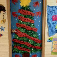 """""""Helping Hands"""" Holiday Classroom Door Decorations"""