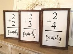 Family Flash Card Sign  flashcard sign  gallery wall sign